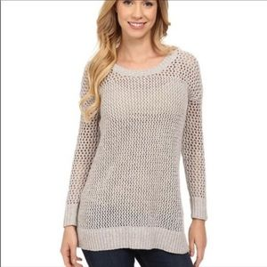 Lucky Brand Lace Up Knit Oullover Sweater